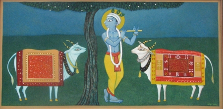 Krishna with Denu
